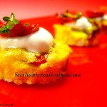 Baked omelette with tomato confit and sour cream