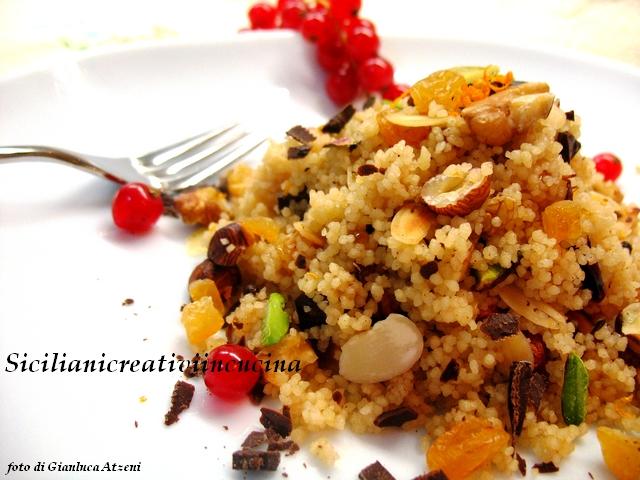 cous cous dolce al marsala e frutta secca