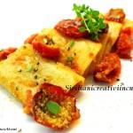 Pasta Paccheri con confit de tomate y pan rallado