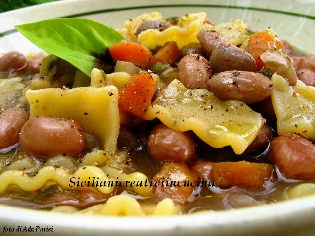 minestra di pasta e fagioli estivi
