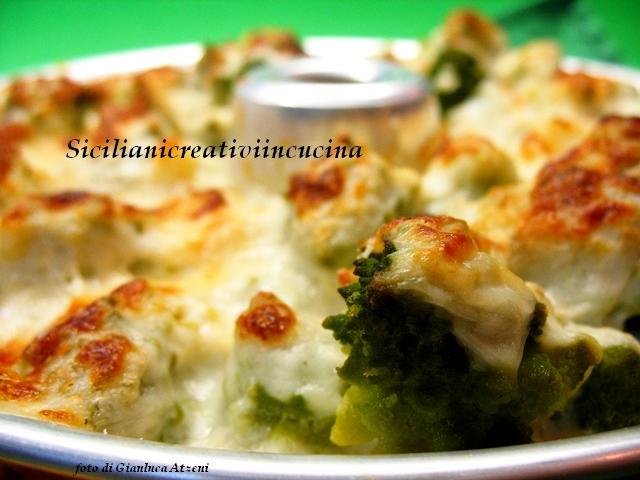 broccolo romanesco al gratin