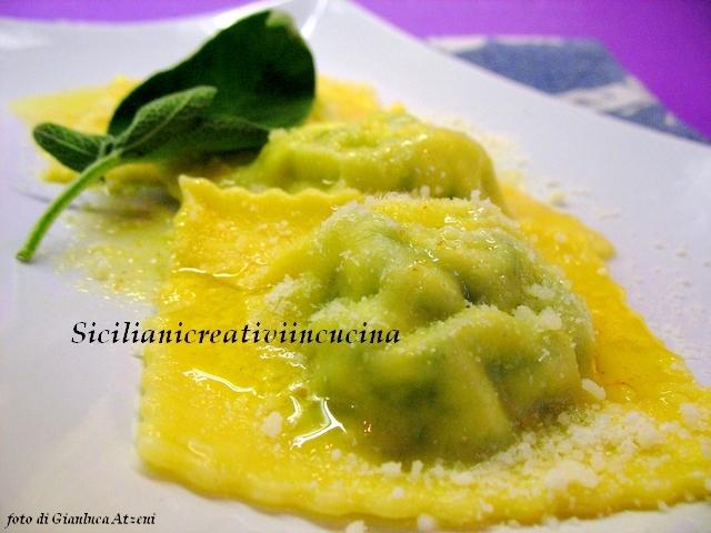 ravioli con ricotta ed erbette | siciliani creativi in cucina | di ... - Cucinare Erbette
