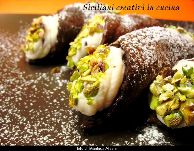 Sizilianische Cannoli Mit Schokolade Sizilianer Kreativ In Der Küche