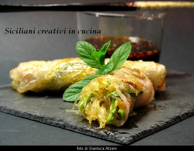 Rouleaux de printemps v g tariens sicilian creative dans for Apprendre cuisine chinoise