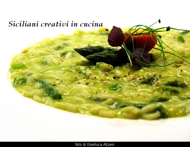 Risotto con crema di asparagi e zenzero