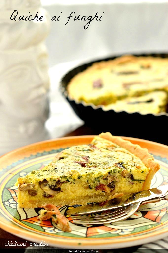 Quiche Ricetta Base.Torta Salata Ai Funghi E Taleggio Dop Siciliani Creativi In Cucina