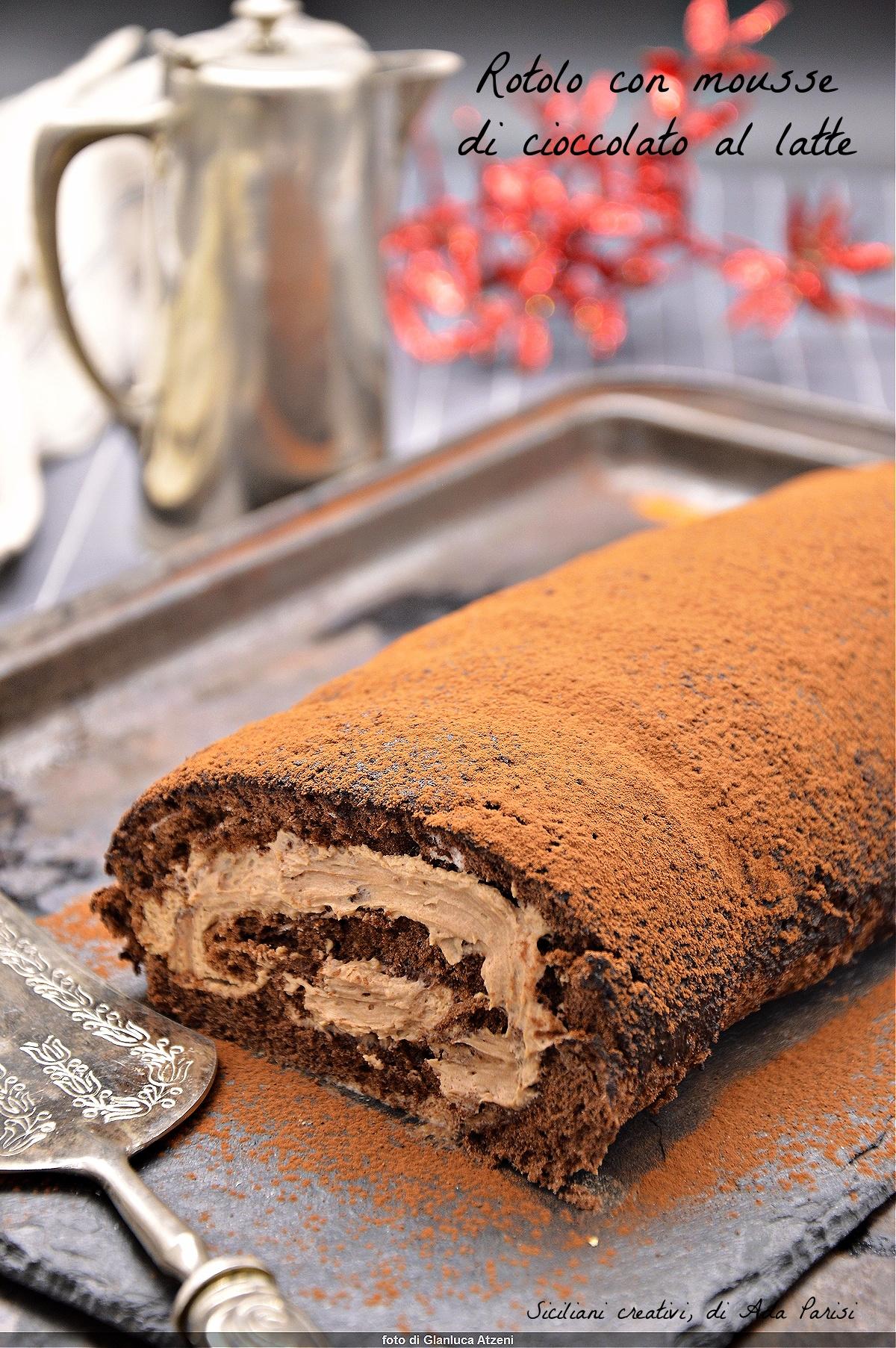Tronchetto Di Natale Montersino.Rotolo Al Cacao Con Crema Al Cioccolato Siciliani Creativi In Cucina